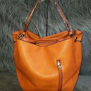 Handbags - Orange hobo styled purse